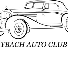 1934 Maybach Zepplin for MACUSA by Peter Falkner