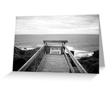 Cape Schanck: Footpath closed Greeting Card