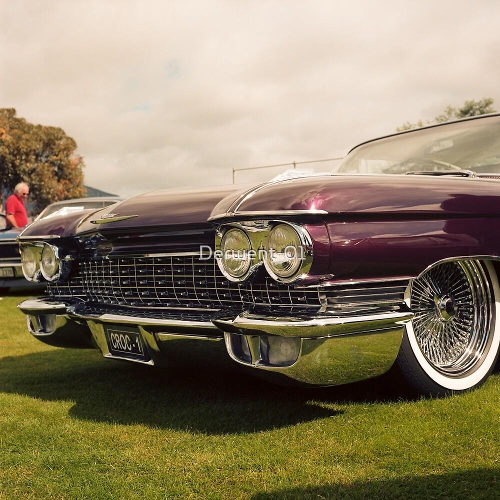 1960 Caddy at Car Show by Derwent-01