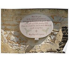Church yard plaque Poster