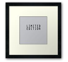 Limited Edition (not limited edition) Framed Print