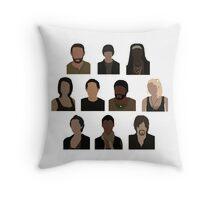 The Walking Dead Cast - Minimalist style Throw Pillow