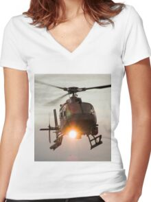 ABC Helicopter Women's Fitted V-Neck T-Shirt