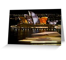 Sydney Opera House - Vivid Festival 2010 Greeting Card