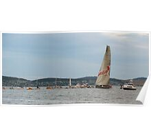 Wild Oats XI crosses the line Poster