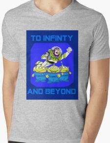 Toy Story Buzz Lightyear To Infinty And Beyond Mens V-Neck T-Shirt