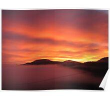 Sunrise in the Derwent Valley Poster