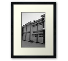 school building Framed Print