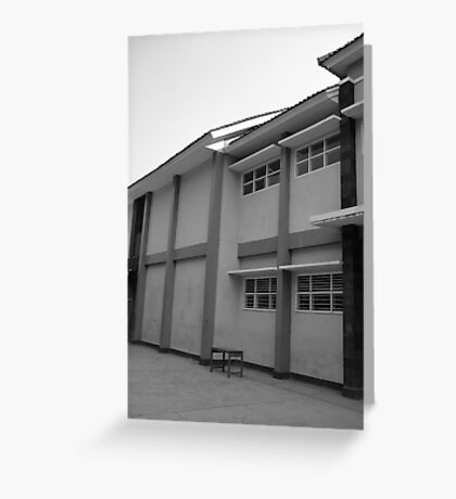 school building Greeting Card