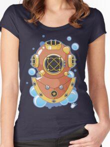 Vector Diving Helmet Women's Fitted Scoop T-Shirt