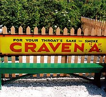 Craven cigarette advert by Ian Moss