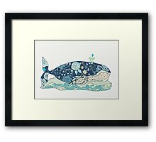 a blue whale Framed Print