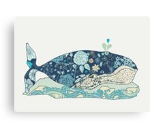 a blue whale Canvas Print