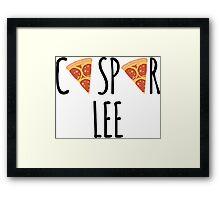 Caspar Lee - Pizza! Framed Print