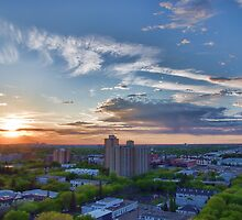Capital City Sunset by Myron Watamaniuk