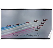 Red Arrows at cosford 2010 Poster