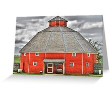 Octagon Barn Greeting Card
