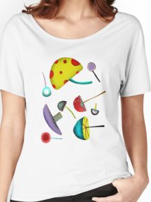 Mushroom mushy Psychedelic wild peace1969 love Women's Relaxed Fit T-Shirt