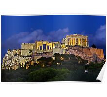 The Parthenon & the Propylaea Poster