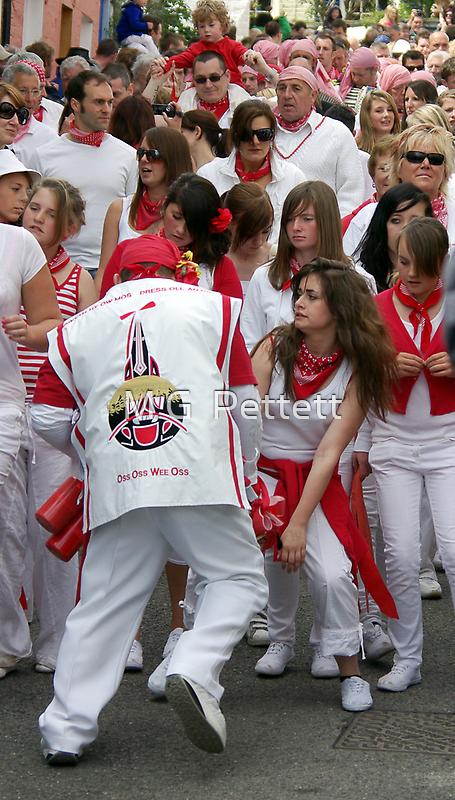 Obby Oss Parade by M G  Pettett