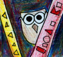 Bookworm Owl Sticker