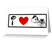 I Heart Chip 'n' Dale (Classic Logo) Greeting Card