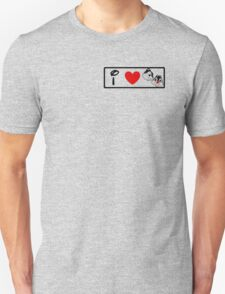 I Heart Chip 'n' Dale (Classic Logo) T-Shirt