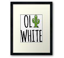 Oli White - Cactus! Framed Print