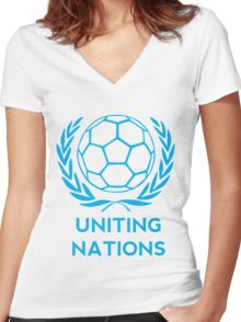 Uniting Nations Women's Fitted V-Neck T-Shirt