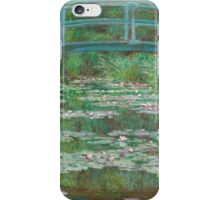 MONET, Claude, Artist, Art, Painter, Oil Painting, Canvas, The Japanese Footbridge, 1899 iPhone Case/Skin