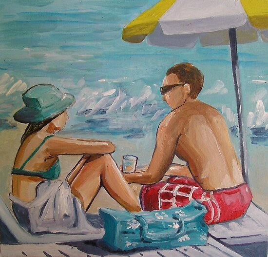 Beach Buddies by nancy salamouny