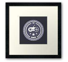 Top Gamer: Monochromatic Badge Framed Print