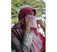 moslem girl Photographic Print