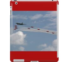 Avro Vulcan Bomber XH558 and the Red Arrows iPad Case/Skin