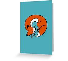 Sleepy Fox Greeting Card