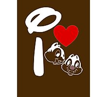 I Heart Chip 'n' Dale (Inverted) Photographic Print