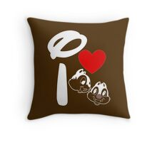 I Heart Chip 'n' Dale (Inverted) Throw Pillow