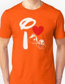 I Heart Chip 'n' Dale (Inverted) T-Shirt