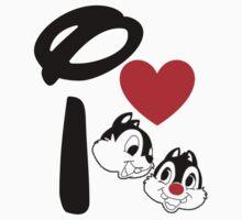 I Heart Chip 'n' Dale by ShopGirl91706