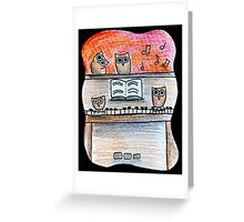 Piano Owls Greeting Card
