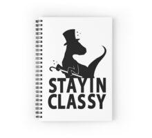 Classy Velociraptor Spiral Notebook