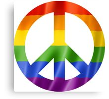 CND Pride Peace Sign T Shirts, Stickers and Other Gifts Canvas Print