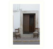 typical Andalucian scene Art Print