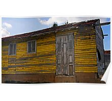 Old Yellow wooden house, Cienfuegos, Cuba Poster