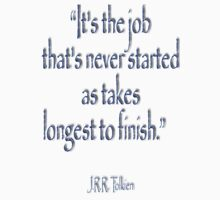 """Tolkien, """"It's the job that's never started as takes longest to finish."""" Kids Clothes"""