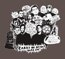Supernatural Quotes Kids Clothes