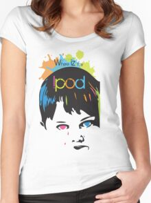 where is my ipod Women's Fitted Scoop T-Shirt