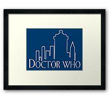 Doctor Who x Frasier mashup – The Doctor, Frasier Crane, Whovian Framed Print