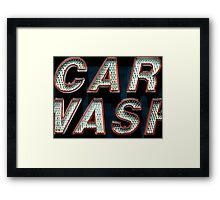 Car Wash, Broadway Style Framed Print