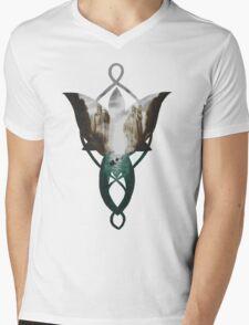Evenstar at the Argonath Mens V-Neck T-Shirt